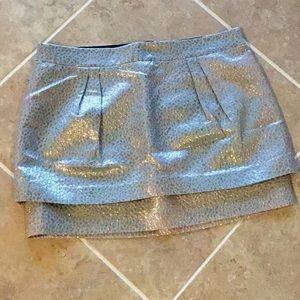 Express silver miniskirt, size 8, NWT